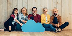 Ortsunabhängiges Arbeiten, immer verfügbare Software egal von welchem Client - das bietet Ihnen unser Cloud.